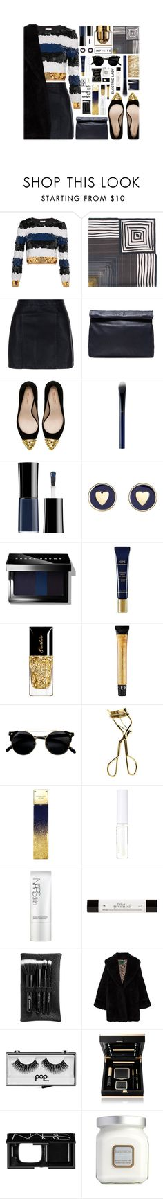 """""""New Year's Eve"""" by vendre-du-reve ❤ liked on Polyvore featuring Sonia Rykiel, Faliero Sarti, New Look, Marie Turnor, Zara, Clé de Peau Beauté, Giorgio Armani, Brooks Brothers, Bobbi Brown Cosmetics and Iope"""