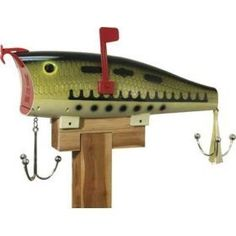 Baby Bass Fishing Lure Mailbox by Rivers Edge Product, www.amazon.com/...