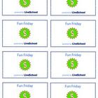 8 Reward Cards for your Fun Friday Reward. This is a great classroom management resource for classroom incentives or school incentives. Print these...