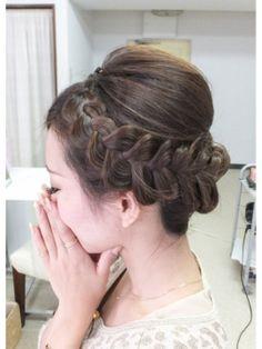 編み込みアップ - ヘアスタイル・髪型・ヘアカタログ [キレイスタイル]