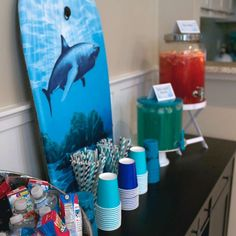 Sharks Birthday Party Ideas | Photo 1 of 18 | Catch My Party