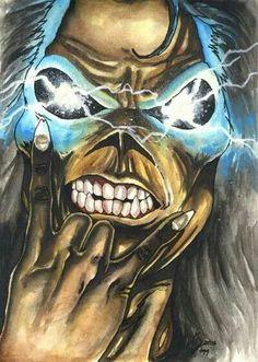 Eddie-Iron Maiden............ Bruce Dickinson, Hard Rock, Iron Maiden Cover, Iron Maiden Mascot, Iron Maiden Posters, Eddie The Head, Groove Metal, Heavy Metal Art, Thrash Metal