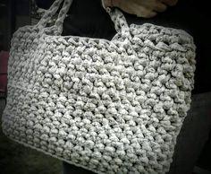 Crocheted T-shirt Market bag (large)