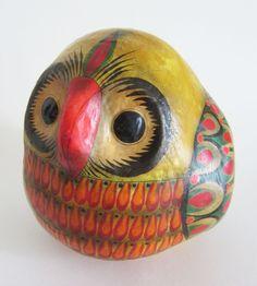 Mexican Handmade Papier Mache Owl