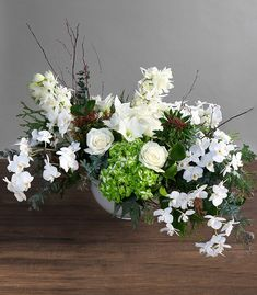 Silver Opulence Winter Barn Weddings, Winston Flowers, Floral Wreath, Wreaths, Table Decorations, Silver, Furniture, Home Decor, Floral Crown