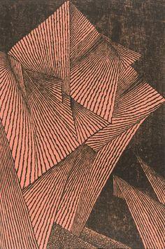 Tomio Kinoshita ~ Faces, 1960 (woodblock print on paper)