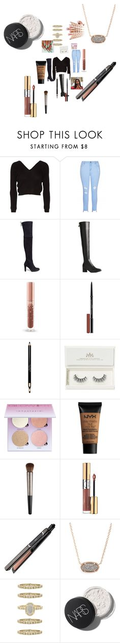 """Untitled #5055"" by fashionicon67 ❤ liked on Polyvore featuring Ballet Beautiful, Stuart Weitzman, Butter London, Clarins, Artémes, Anastasia Beverly Hills, NYX, Urban Decay, Yves Saint Laurent and Revlon"
