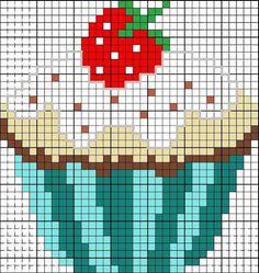 Patrones de cupcakes en punto de cruz  - Cupcake cross stitch patterns: