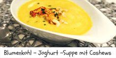 Diese leichte Blumenkohl-Joghurt-Suppe ist wirklich sehr schnell zubereitet und sie hat durch die Cashewkerne und die Verwendung von Kurkuma geniale Energiespender beziehungsweise Gesundheitsanrege…