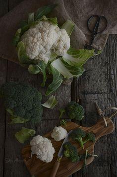 Gratén de Coliflor y Brócoli con Jamón | Cauliflower and Broccoli Gratin with Ham http://saboresymomentos.es