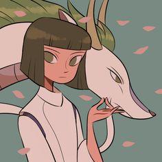 Spirited Away (千と千尋の神隠し) Studio Ghibli (Hayao Miyazaki) Anime Movie Studio Ghibli Art, Studio Ghibli Movies, Pretty Art, Cute Art, Personajes Studio Ghibli, Chihiro Y Haku, Character Art, Character Design, Poses References