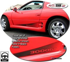 Vehicle Specific Graphic kits for Mitsubishi 3000GT that are Precut and ready to install. - LGMSports.com
