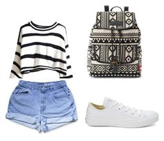 """""""Bez naslova #21"""" by aneela-57 ❤ liked on Polyvore featuring Converse and UNIONBAY"""