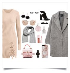 """""""Girls night out"""" by lise-sorensen on Polyvore featuring MANGO, Niels Peeraer, Christian Dior, Puma, Chanel, CLUSE and Essie"""