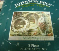 New Boxed 5pc Place setting made in England Friendly Village Johnson Brothers  | eBay