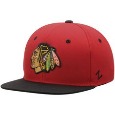 571aa39f3c5 Youth Zephyr Red Black Chicago Blackhawks Z11 Snapback Adjustable Hat