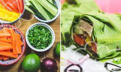 Salatrollen mit Pute