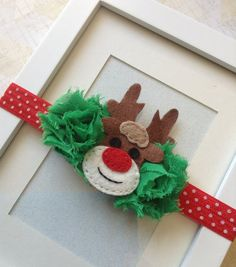 Reindeer headband Christmas headbands holiday by Abelialane, $10.95