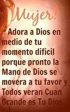 Mensaje de Dios Biblical Quotes, Bible Quotes, Bible Verses, Religious Quotes, Harley Davidson T Shirt, Healing Words, Gods Promises, Godly Woman, Spanish Quotes
