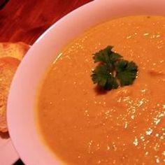 Pumpkin, Sweet Potato, and Leek Soup - Allrecipes.com