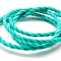 Lot de 10 mètres de corde nylon 3 brins verte 6 mm