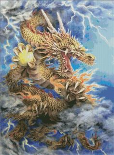 Golden Dragon [HARAI130] - $19.00 : Heaven And Earth Designs, cross stitch, cross stitch patterns, counted cross stitch, christmas stockings, counted cross stitch chart, counted cross stitch designs, cross stitching, patterns, cross stitch art, cross stitch books, how to cross stitch, cross stitch needlework, cross stitch websites, cross stitch crafts
