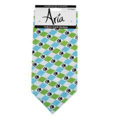 Aria Cotton/Polyester Andover Argyle Dog Bandanas, 22-Inch, Bluebird - http://www.thepuppy.org/aria-cottonpolyester-andover-argyle-dog-bandanas-22-inch-bluebird/