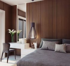 60 Modern Contemporary Masculine Bedroom Ideas - About-Ruth Home Interior Design, Interior Architecture, Home Bedroom, Bedroom Decor, Bedroom Ideas, Bedroom Inspiration, Bedroom Interiors, Bedroom Lighting, Girls Bedroom