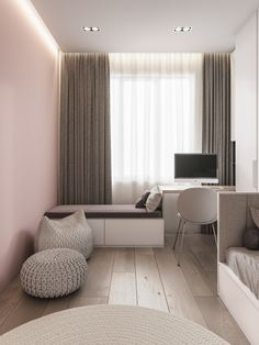 Design project of the apartment Moscow on Behance Guest Room Decor, Home Decor Bedroom, Modern Apartment Decor, Modern Home Interior Design, Small Room Bedroom, Bedroom Layouts, Kids Room Design, My New Room, House Design