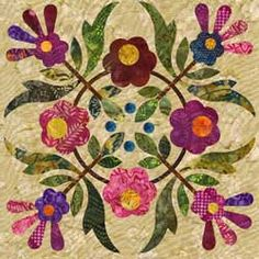 Over the Rainbow SPRING BOUQUET Block 6 By Laundry by donellefritz, $21.43