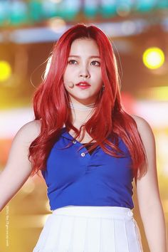 Kim Ye-rim (김예림) also known  mononymously as Yeri (예리) of Red Velvet (레드벨벳) | She's so beautiful! My precious girl looks so stunning with that vividly colored red hair!! ❤❤