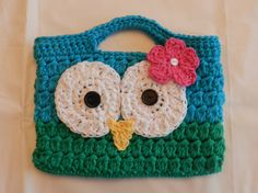 Crocheted Child's Purse/ Crocheted Owl Purse