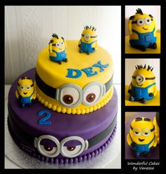 Not a Minion cake, but one with very small modelling work. I loved to make these small minions in different styles. Minion Birthday, Minion Party, 2nd Birthday, Birthday Ideas, Minion Cookies, Cake Cookies, Elegant Desserts, Fun Desserts, Torta Minion