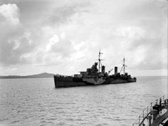HMS Aurora (12) Arethusa class light cruiser of the British Royal Navy in Bone Harbor on December 13, 1942. (wikipedia.image) 01.17