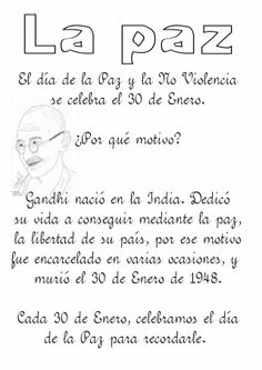 Gandhi Spanish Lessons, Spanish Class, Spanish Teacher, Gandhi, Classroom, Peace, Teaching, Holidays, School