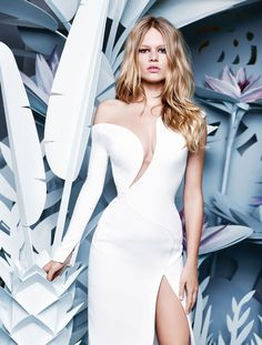 Belle Plante: Anna Ewers by Karl Lagerfeld for Numéro March 2015 - Atelier Versace Spring 2015 Anna Ewers, White Fashion, Look Fashion, Fashion Models, Fashion Design, Karl Lagerfeld, Get Glam, Collection Couture, Mode Editorials