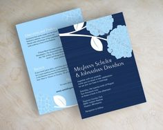 Shades of blue hydrangea  #wedding invitations & stationery ... Wedding ideas for brides, grooms, parents & planners ... https://itunes.apple.com/us/app/the-gold-wedding-planner/id498112599?ls=1=8 … plus how to organise an entire wedding ♥ The Gold Wedding Planner iPhone App ♥