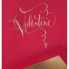 hand engraved calligraphy valentine $4.75