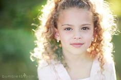 beautiful little girl - gorgeous backlighting