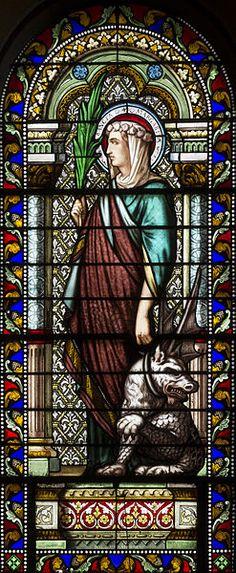 File:Église Saint-Denis-de-la-Croix-Rousse de Lyon - Vitrail Marguerite d'Antioche.jpg