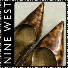 Nine West Pumps Nine West Signature Ladies Pointed Toe Pumps in Trendy Animal Print Design, About 2.5 inches heels, Worn but Mint Condition Nine West Shoes