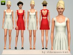 ILikeMusic640's Heart Cutout Dress AF
