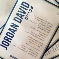 Bar Mitzvah Invitation by LePapieronEtsy on Etsy