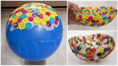 Bonito bowl hecho con botones - Manaulidades para Decorar ~ Un Mundo de Manualidades