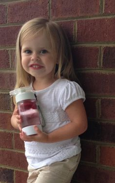 Fruit infused water for tots is a great alternative to sugary drinks like juice and soda - here is Define Bottle mini
