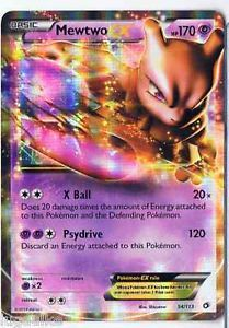 Pokemon Card Legendary Treasures Rare Holo Mewtwo EX 54/113 FREE COMB S&H