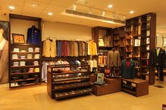 Retail Store with display counter and Hanging Clothes Rack, Design by Vinod Mehra, Architect in Mumbai, Maharashtra, India