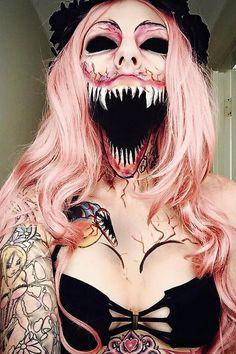 😮😮😮 This definitely is a killer make up! Is this scary enough for your Halloween 🎃 make up? Creepy Makeup, Witch Makeup, Sfx Makeup, Costume Makeup, Makeup Art, Makeup Ideas, Beauty Makeup, Makeup Cosmetics, Makeup Brushes