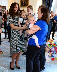 Pin for Later: Kate Middleton hat sich in diesem Jahr selbst übertroffen  Für einen Nachmittag mit Prinz George trug Kate Tory Burch.
