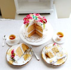 miniature tea & cake - lovely
